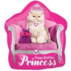 Kitten Princess helium filled foil balloon