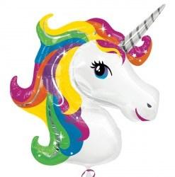 Unicorn Head helium filled foil balloon