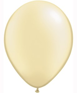 """10 Treated Pearl Ivory 11"""" Helium Filled latex Balloons"""