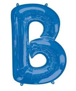 Blue Helium Letter Balloons