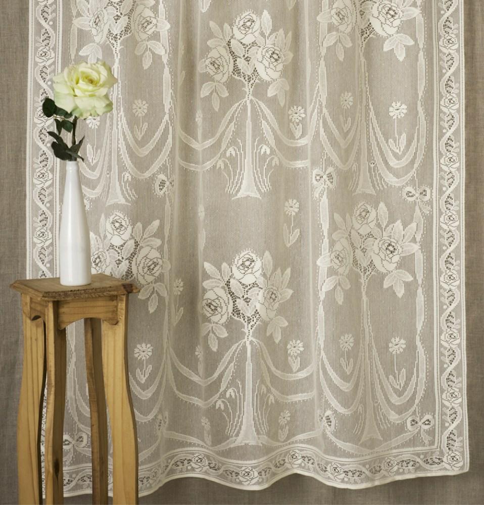 Black lace curtains vintage - Vintage Lace Curtains Sale