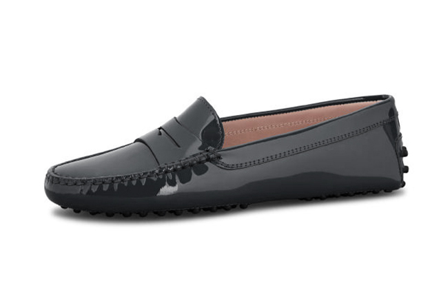 london loafers womens Sloane black patent leather penny driving loafers 3