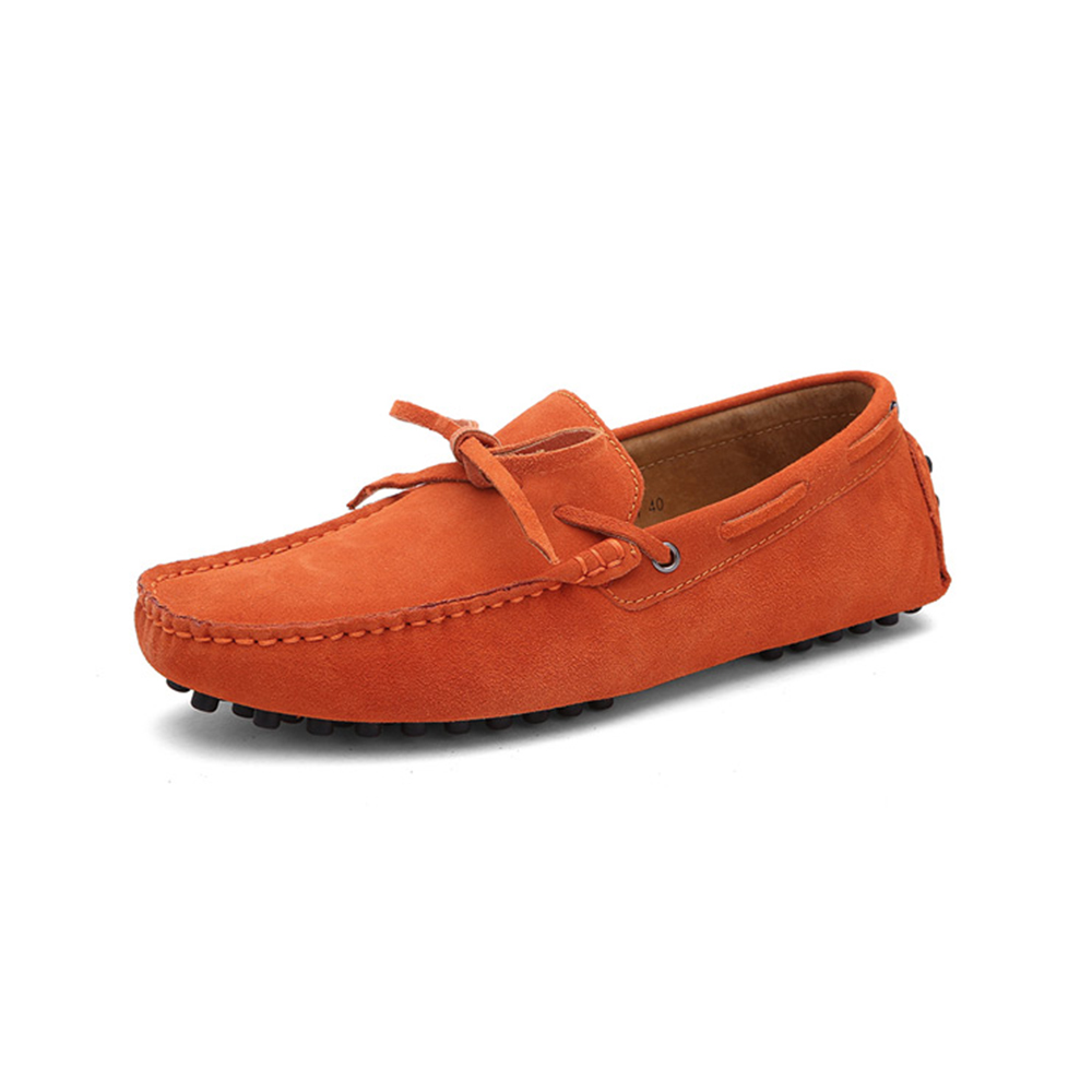 Orange Leather Driving Shoes