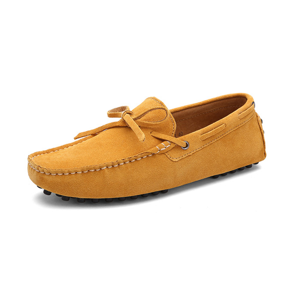mens yellow driving shoes loafers - chelsea london loafers