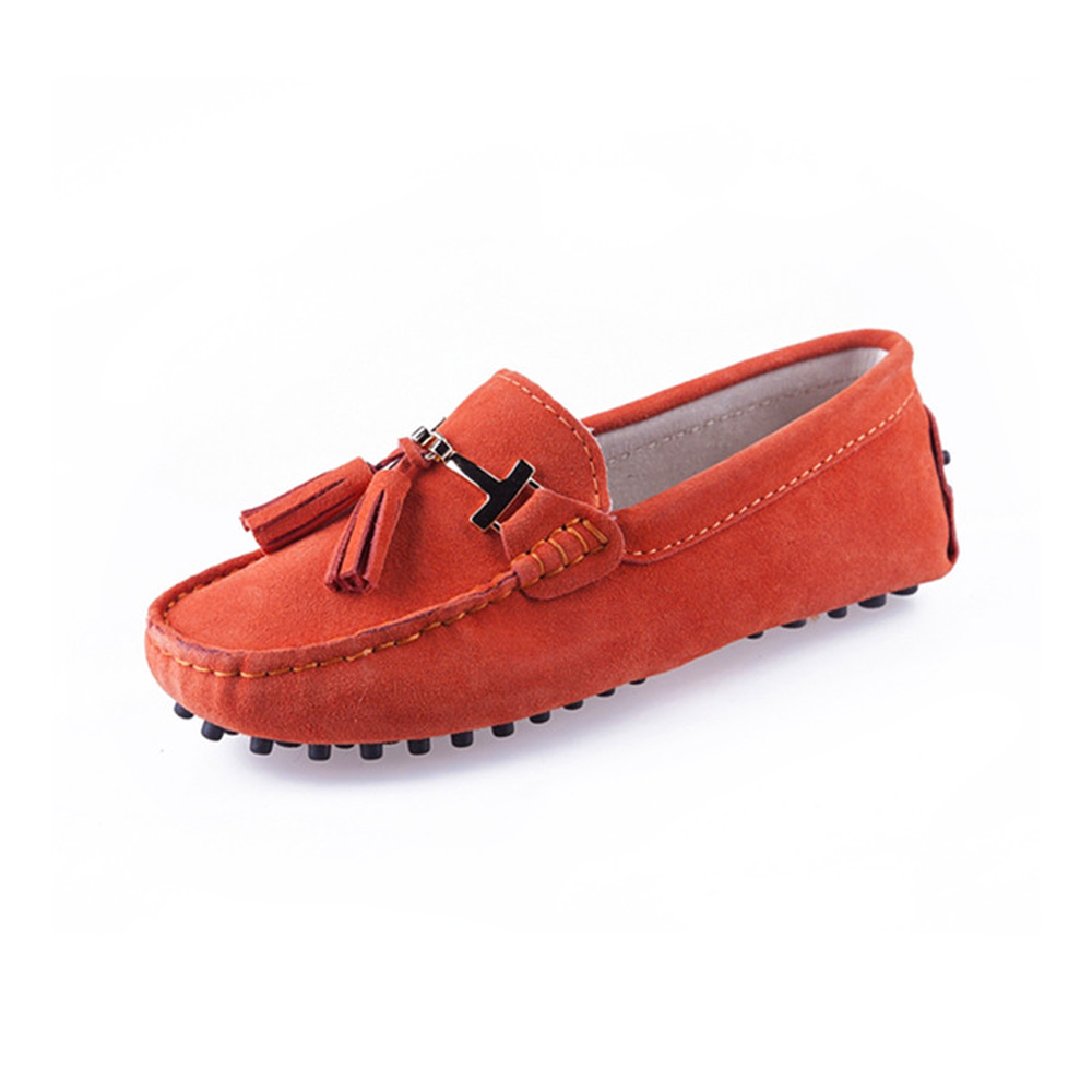 womens orange suede t bar tasselled loafer - trafalgar driving shoe by london loafers