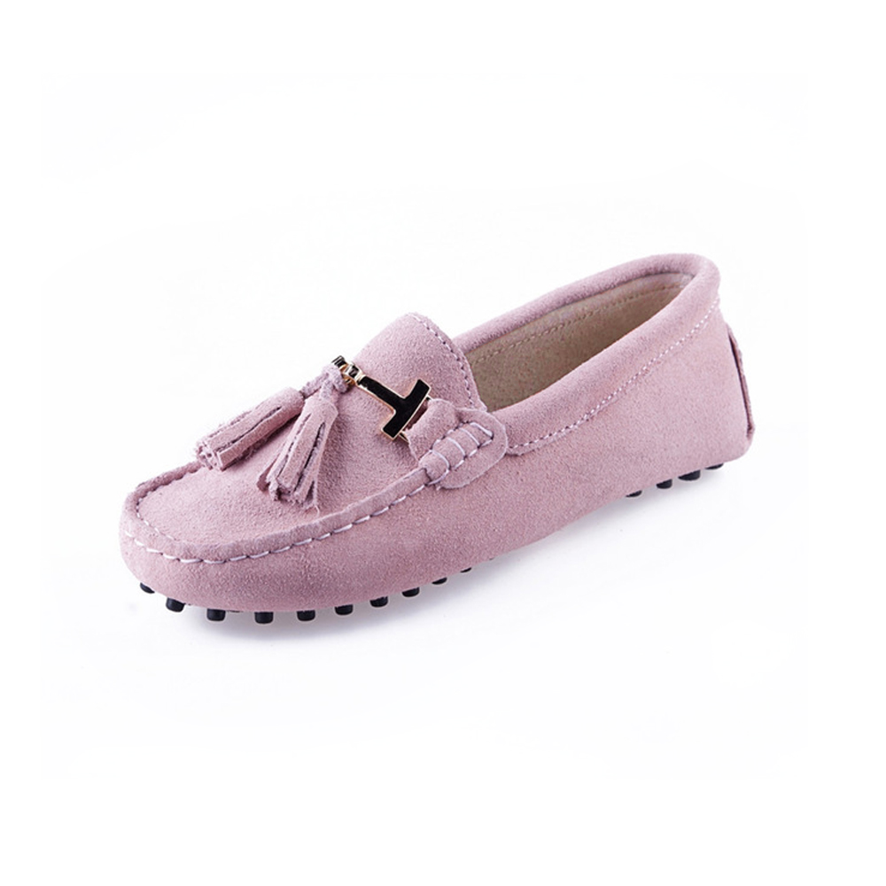 womens pink suede t bar tasselled loafer - trafalgar driving shoe by london loafers