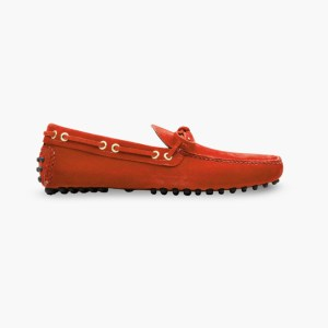 Mens Red Classic Driving Shoes - Mens Driving Loafers By London Loafers - Suede Loafers For Men3 copy