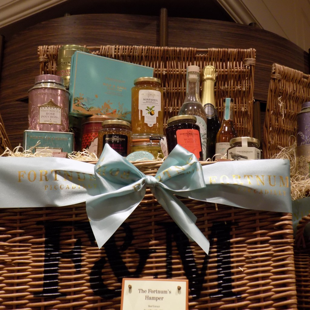 Just some of the stunning Hamper's on offer at Fortnum & Mason.