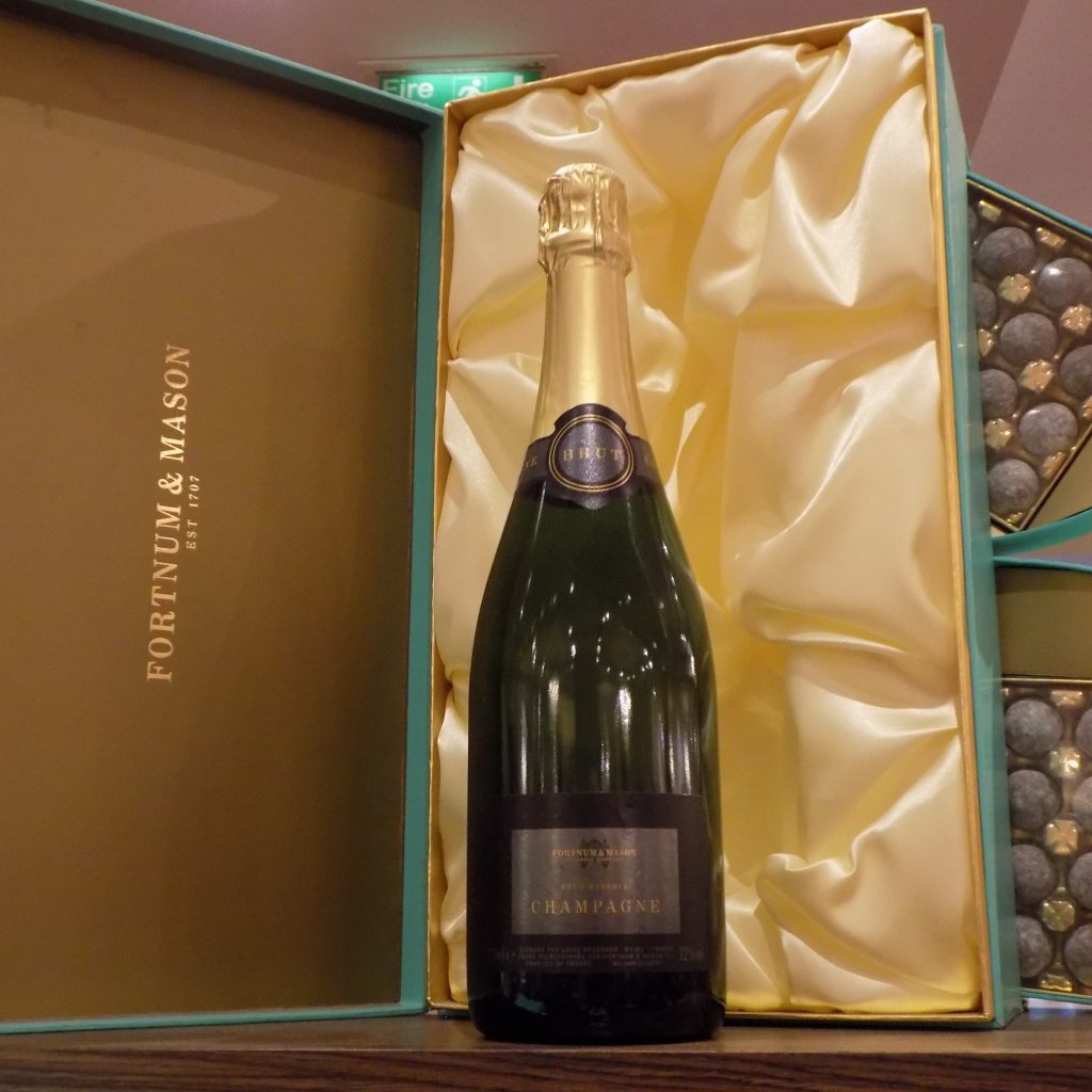 Some of the Champagne gift boxes at Fortnums, these boxes in the famous signature duck egg blue are to be cherished.