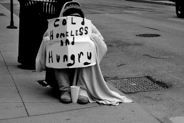 The homeless and hungry and less fortunate