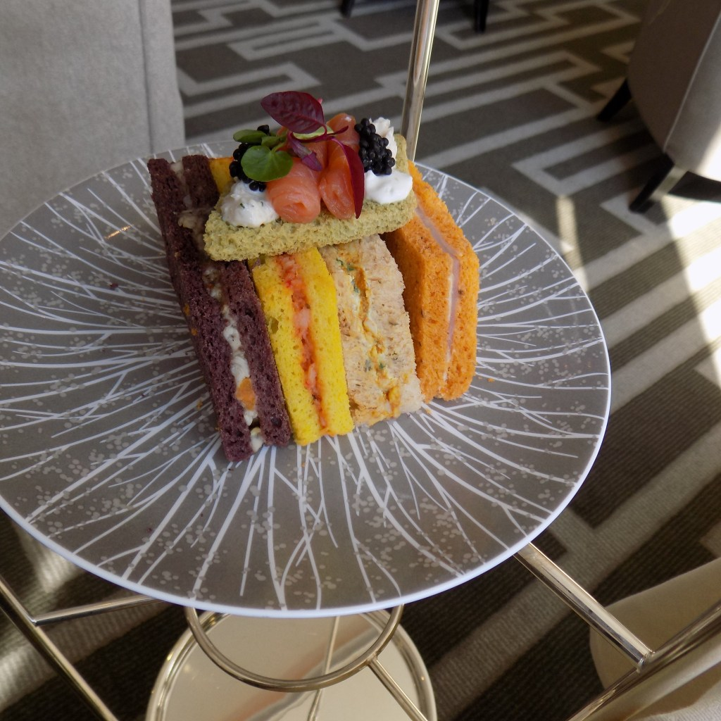 Royal Afternoon Tea sandwiches on stand