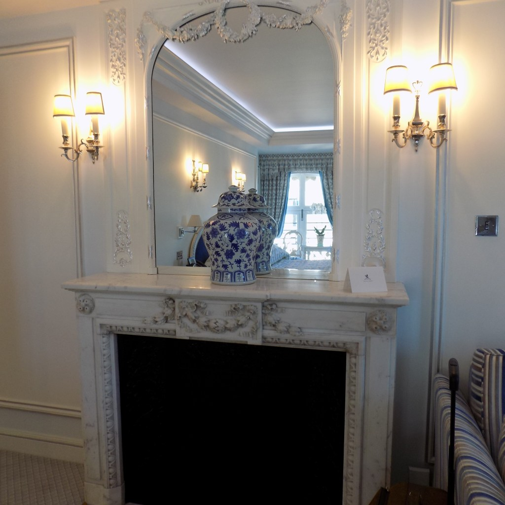 The magnificent fireplace