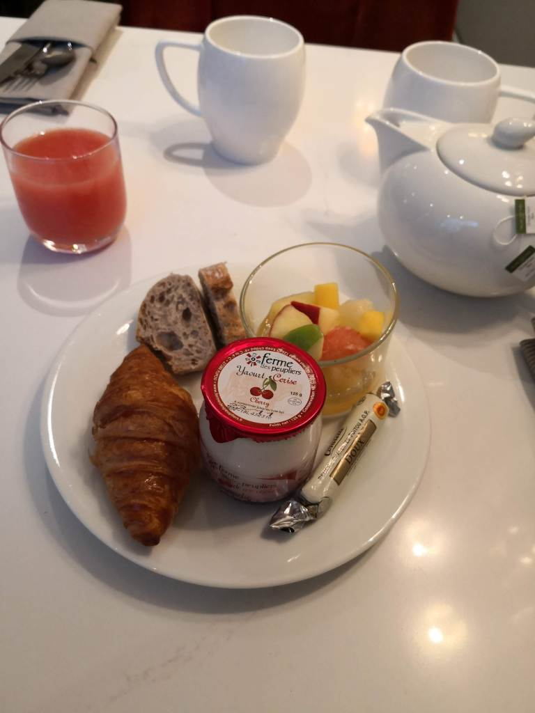 my breakfast at the hotel westminster