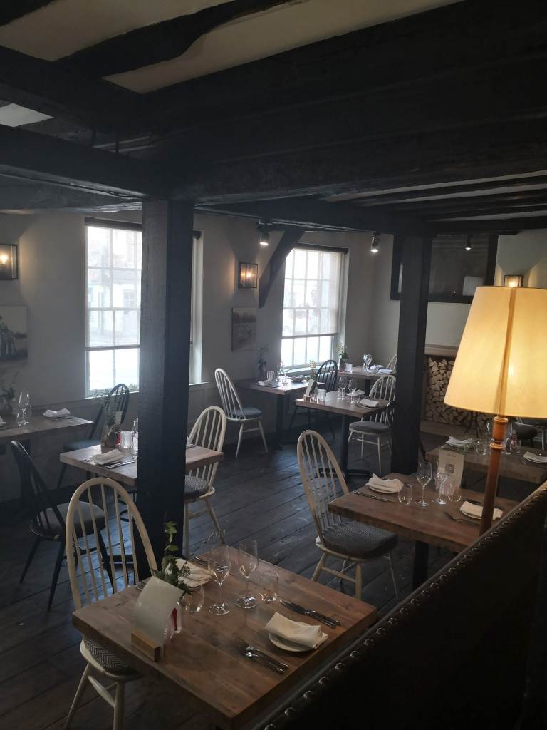 Hawkyns dining area at The Crown Old Amersham
