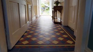 Gallery of Tile Installations | Photos of Victorian Floor Tiles | London Mosaic | Black, Red and