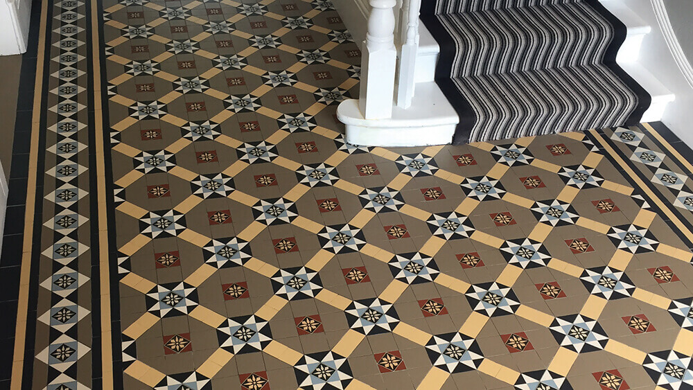what are victorian floor tiles