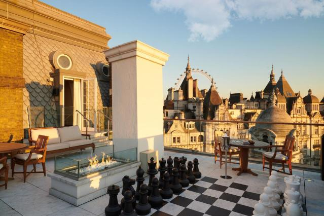 rooftop at Corinthia Hotel for London Staycation