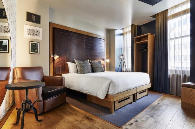 Guest room at the Hoxton Holborn London