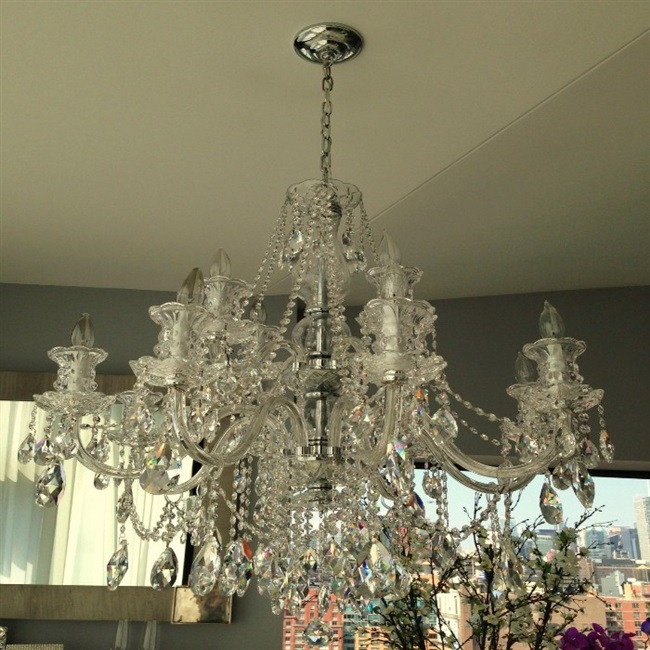Chandelier Cleaning With Crystals Cleaned On Apt In Nyc