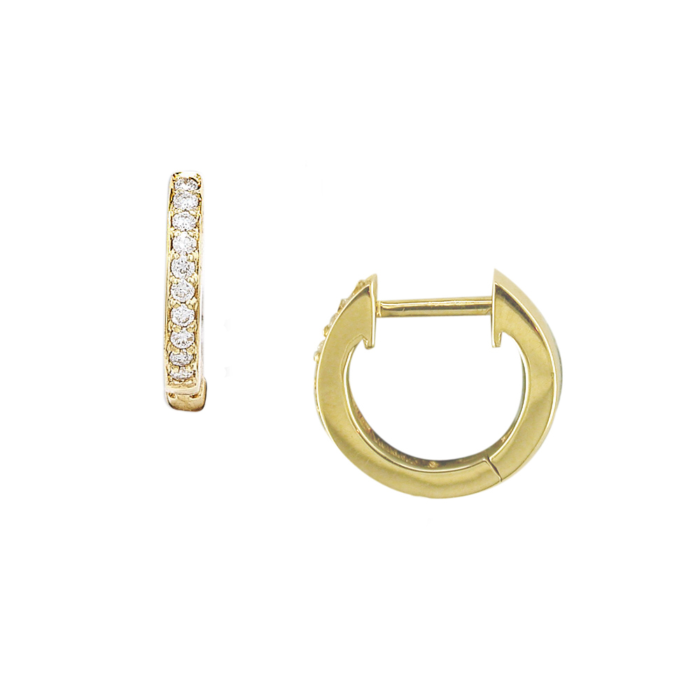 Designer Yellow Gold Diamond Hoop Earrings