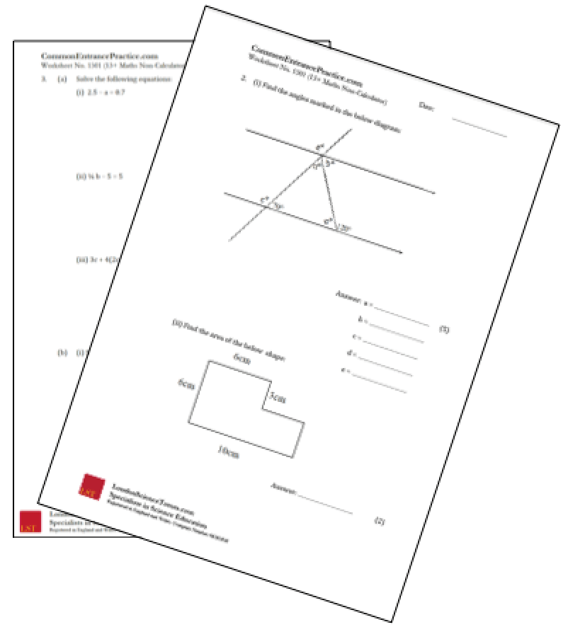 Maths Worksheets For Kids January 2013
