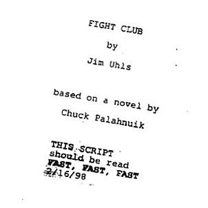 Fight Club Script to Screen