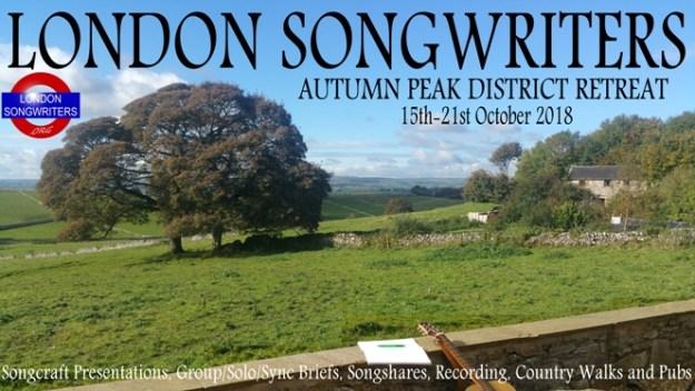 London Songwriters 2018 Autumn Peak District Retreat