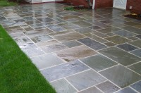 Pin Pattern Bluestone Patio With Sandstone Topped Stone ...