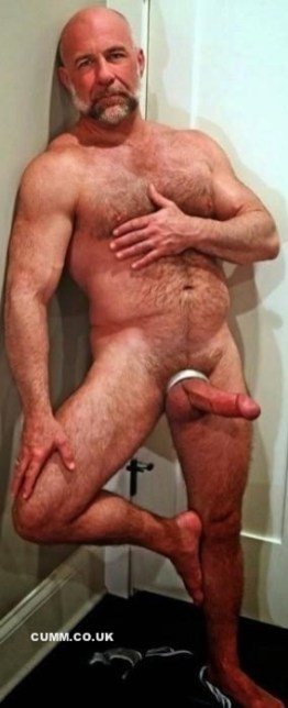 Cock Tailor silver daddy erect hairy cockring
