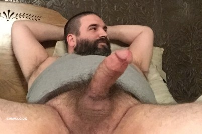 mature cub daddy erection cockring big belly