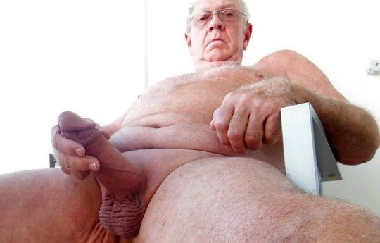 grandpa hairy chest hung cock