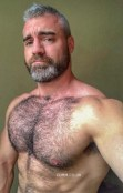 hairy man barechested in manchester