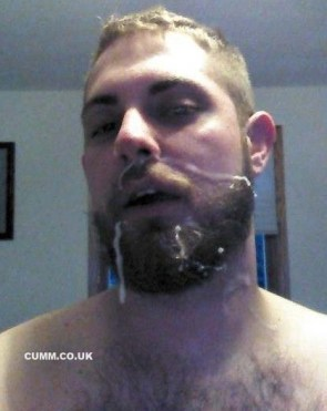 cumm faces beard horny