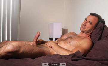 bed hairy daddy wanks