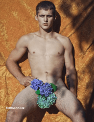 Staunch Masculinity flower nude lads