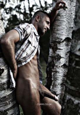 morning-woodworker-naked-hung