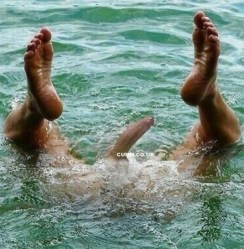 curved cock swimming
