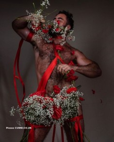 flower men nude