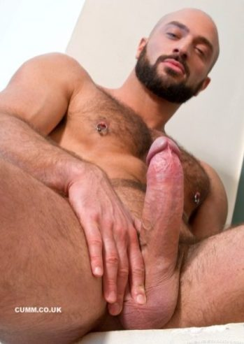 bearded god wanking giant cock