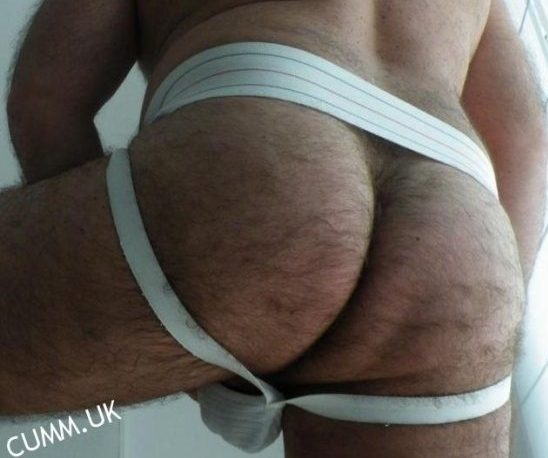 hairy arse white jockstrapped