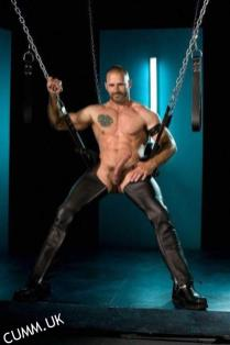 hung leather daddy erect