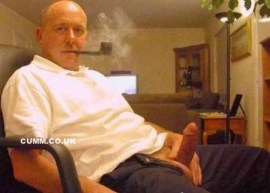 smoking mature erection