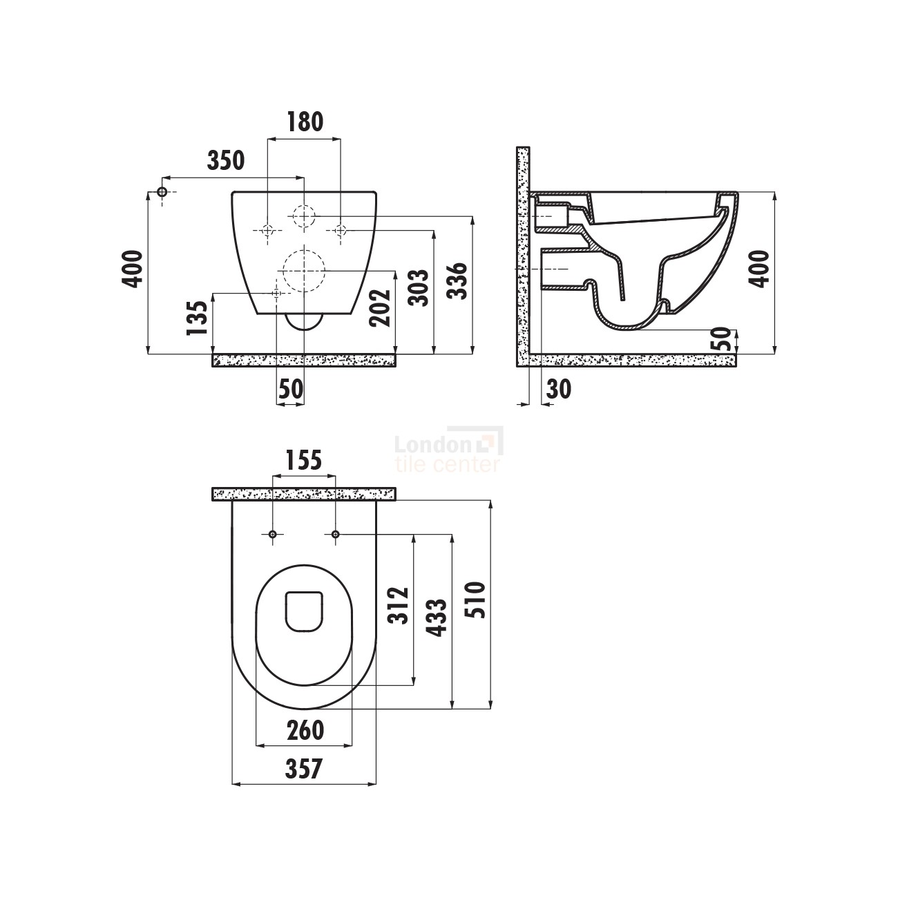 Free Wall Hung Combined Bidet Toilet + Soft Close Toilet