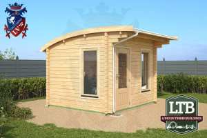 London Timber Buildings Log Cabin Wembley Range 3.2m x 2.8m WEM011 001