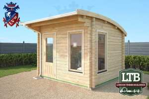 London Timber Buildings Log Cabin Wembley Range 3.2m x 2.8m WEM011 002