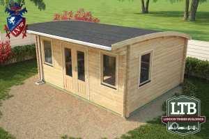 London Timber Buildings Log Cabin Wembley Range 5m x 4m WEM032 004