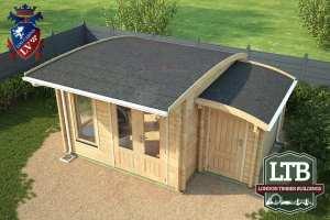 London Timber Buildings Log Cabin Wembley Range 5m x 4m WEM033 005