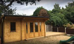 Bespoke Wembley Log Cabin, WEM038, 5m x 3m, in 70mm logs