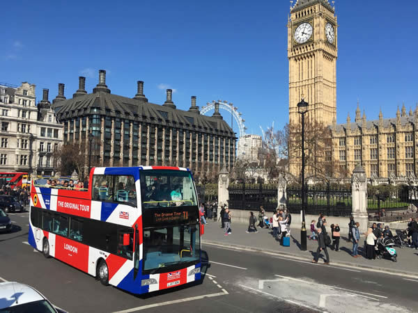Original London Open Top Sightseeing Tour Discounted Tickets