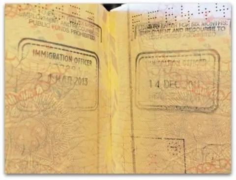 Documentos necessários para imigração em Londres - visto do Reino Unido